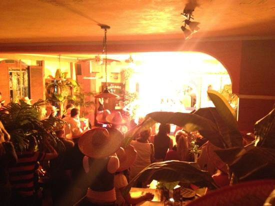 Havana Restaurant: Fire show 14.September 2012,first prohibition night!