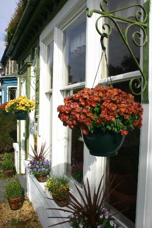 Green Gables Guest House: Colourful hanging baskets