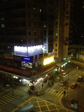 The Empire Hotel Wan Chai: View from my window. It was a very vibrant neighbourhood - lots going on!
