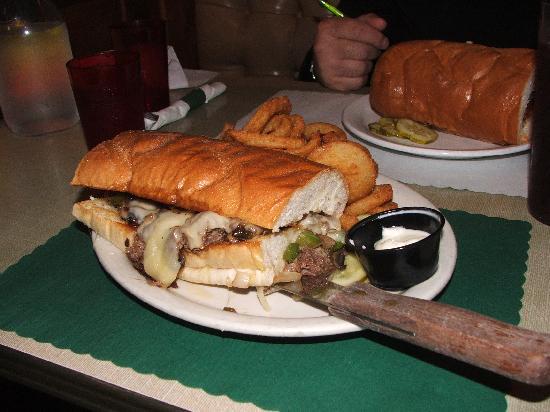 The Hut Inn: Philadelphia Cheesesteak Sandwich