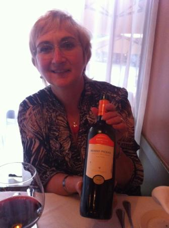 Luca's Mediterranean Cafe: lorrie with the rosso Piceno recommended by Luca.