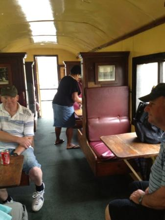 Coral Coast Railway: inside the train