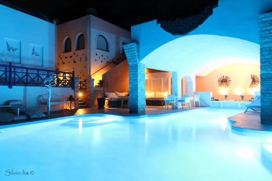 Pool At Night Picture Of Astarte Suites Akrotiri