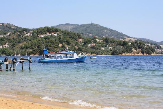 Kanapitsa Mare Hotel & Spa: water taxi from Kanapitsa to Skiathos Town