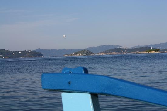 كانابيتسا ماري هوتل آند سبا: view from water taxi on way to Skiathos town 