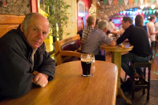 The Bold Thady Quill : One of our locals enjoying his Guinness