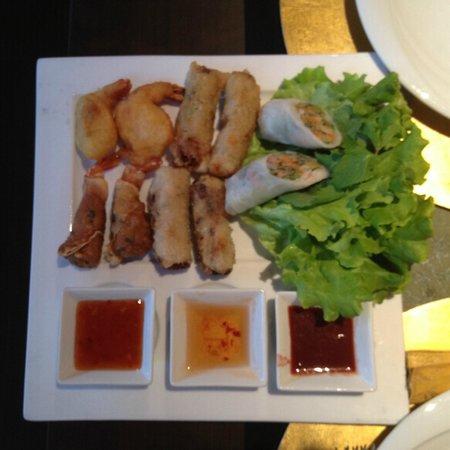 L'Indochine : Un plateau d'entrés, simplement délicieux...