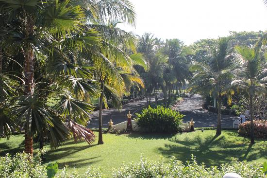 Taj Exotica Goa: The drive from hotel to the street