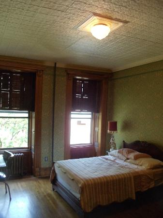 The Harlem Flophouse: Chester Himes Room - tall ceilings, sunlit room