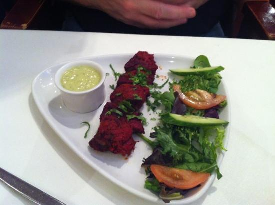 Lamb starter picture of akbar dynasty darlington for Akbars contemporary indian cuisine