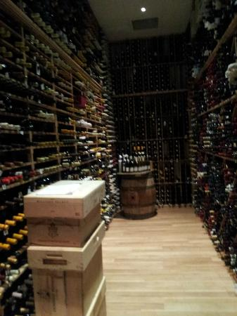 The Coeur d'Alene Resort: Wine cellar!