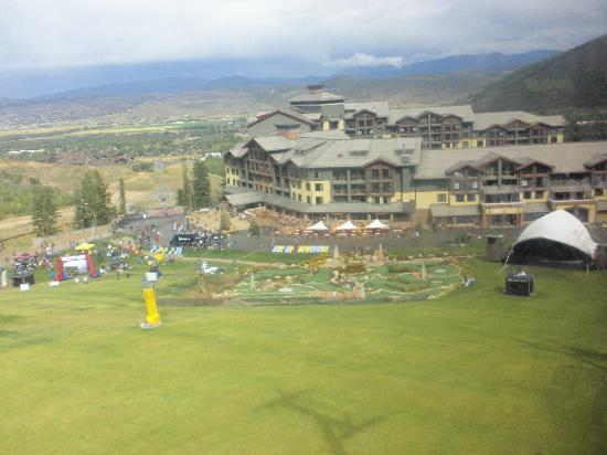 Sundial Lodge at Canyons Village: View from the Gondola