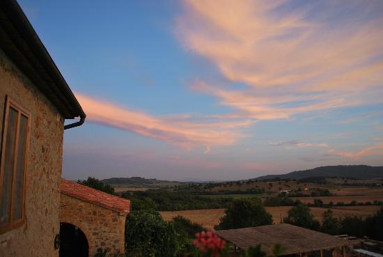 tramonto a casa montecucco