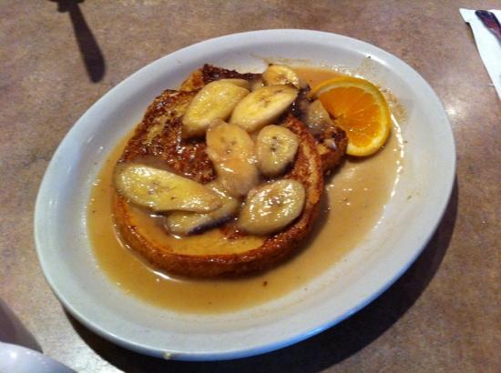 Lisa's Cafe of Madeira: Met rum geflambeerde banaan op french toast
