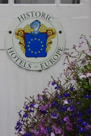 Rosleague Manor Hotel: Placard by doorway