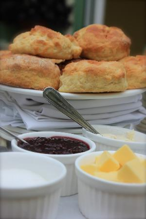 Rosleague Manor Hotel: Scones and Tea in the afternoon