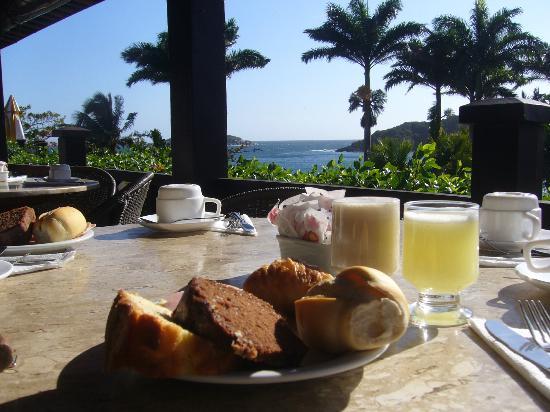 La Boheme Hotel e Apart Hotel: desayuno con vista al mar 
