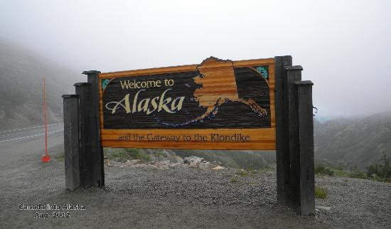 Dyea Dave Tours: Alaskan sign coming in from Canada