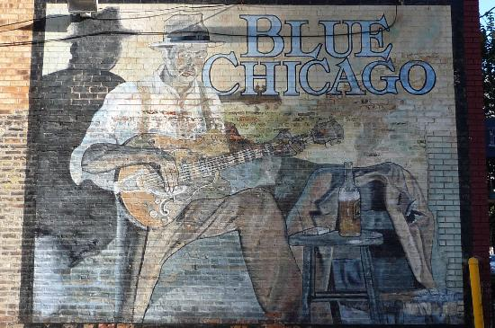 Old mural picture of blue chicago chicago tripadvisor for Mural in chicago illinois