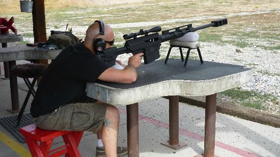 """Jackson Hole Shooting Experience : Bushmaster at 460 yards - """"fire in the hole"""""""