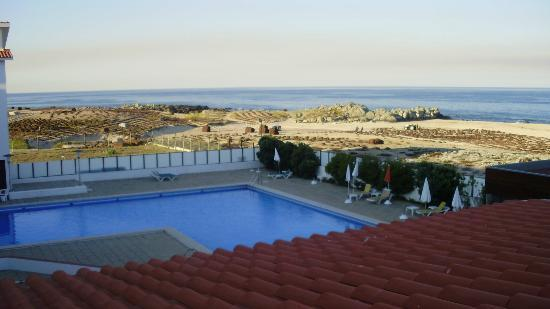 Hotel Santo Andre: view from our room, pool and seaweed production 
