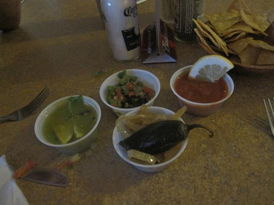 Andele Restaurant : My choices from the salsa bar included the chipotle chili.  I've had better salsa.