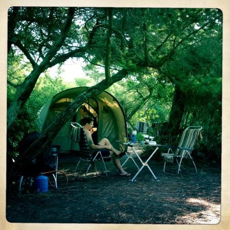 Le Esperidi Village: Mooie plekjes voor de tent.