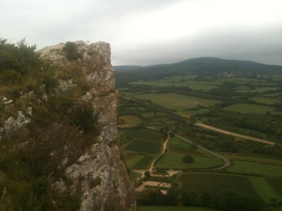 Rock of Solutré: la roche vue du sommet