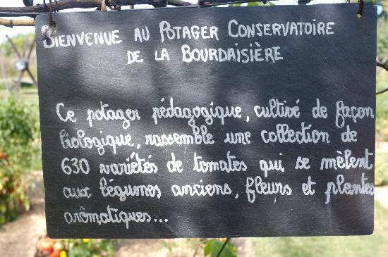 Gardens of the Chateau de la Bourdaisiere: 630 variétés de tomates