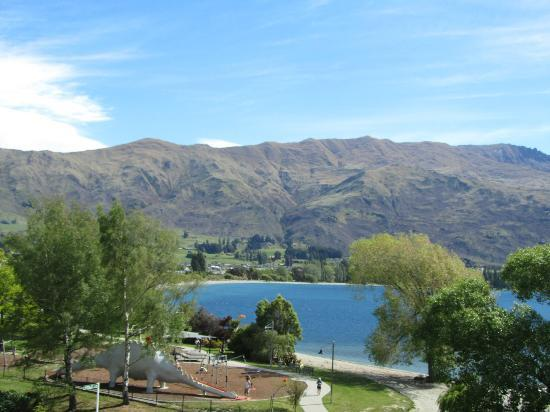 The Moorings: View from room towards Wanaka town centre