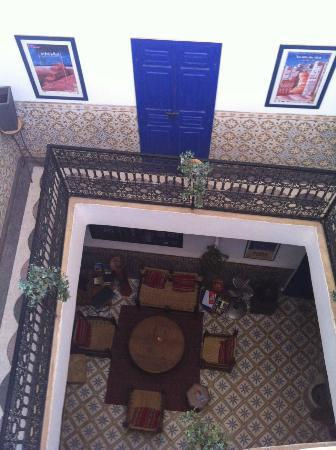 Riad Dar Tiflet: looking down from roof