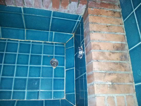 Club Village Forte Cappellini: camera comfort?? Particolare inquietante della vasca