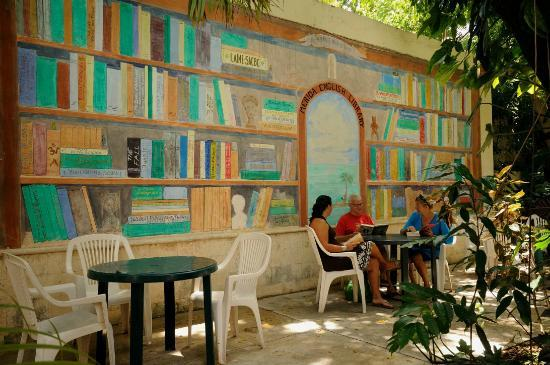 "Merida English Library: The MEL Patio provides a great venue for ""MEL Nites"""