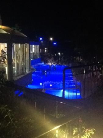DELTA BEACH RESORT: The pool at night