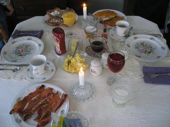 The Grand victorian B&B hearty breakfast ~