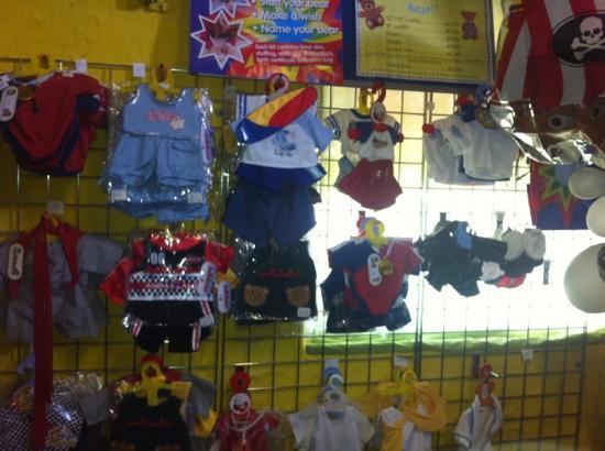 Treasure Island Fun Centre: selection of clothes for teddys
