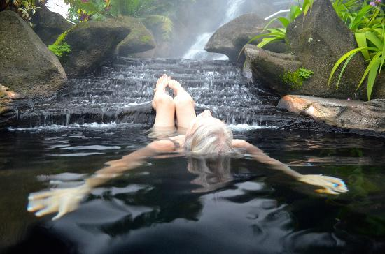 Arenal Kioro: my sister enjoying the hot springs