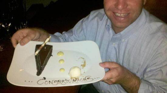 Four Seasons Resort Rancho Encantado Santa Fe: Surprise cake to celebrate!