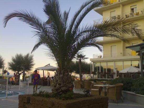 Miramare Hotel & Spa: Angolo del giardino in fianco alla piscina