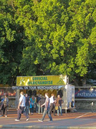 Domain Stadium: Merchandising outside Patersons Stadium