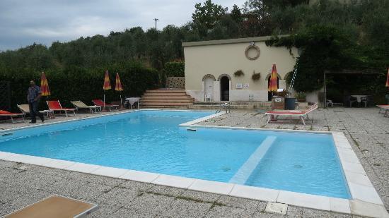 Hotel Le Renaie: La piscine et le jacousi au fond