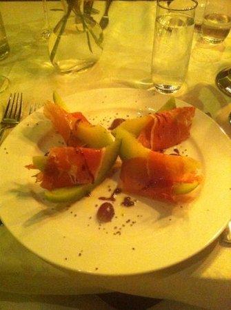 Der Bonner Hof: Jamon with melon...