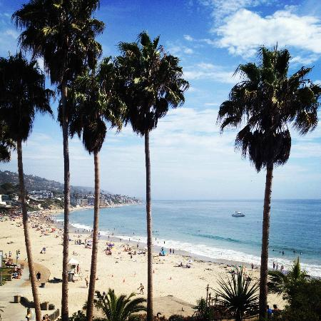The Inn At Laguna Beach: View of the main beach from our room