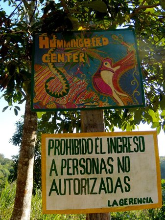 The Hummingbird Retreat Center : The Hummingbird sign