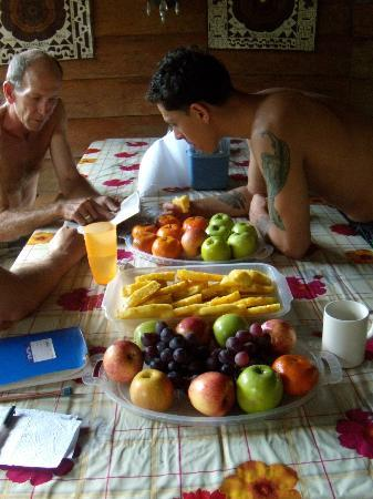 The Hummingbird Ayahuasca Retreat Center: afternoon fruit platter!