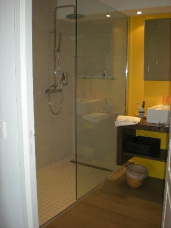 Les Terrasses du Luberon: Shower in room 4
