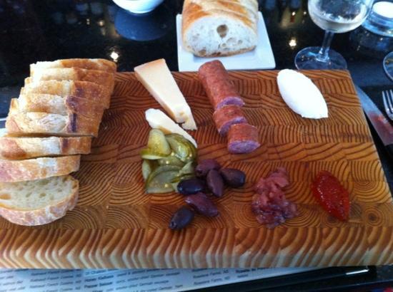 Obladee, a Wine Bar: PEI cheddar, honey kielbasa, Nova Scotia goat Chèvre