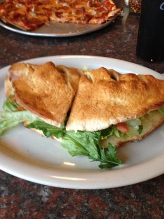 Christiano's: chx calzone! yummy!
