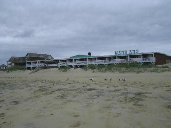Sea Foam Motel: Wonderful beach right there!
