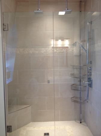 The Wellshire Bed and Breakfast: double rain head shower (bedroom #2) 